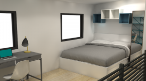 Brady Bedroom Rendering by microMansions