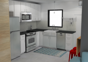 Brady Kitchen Rendering by microMansions
