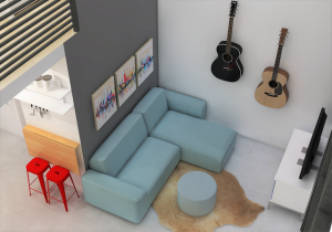 Brady Living room rendering by microMansions