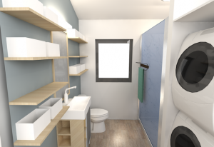 Dunn Bathroom Rendering by microMansions