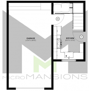 Smittle Main Level Floor Plan by microMansions