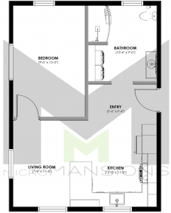 Winston Floor Plan by microMansions